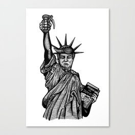 Statue of Suppression Canvas Print