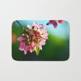 Pink Flowers Blue sky Bath Mat