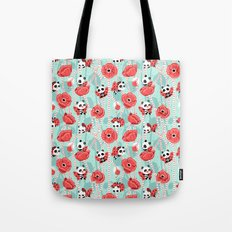 Poppy Pandas Tote Bag