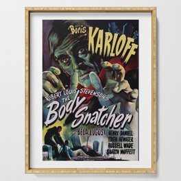 The Body Snacher 1945 Vintage Movie Poster Artwork for Wall Art, Posters, Prints, Tshirts, Men, Wome Serving Tray