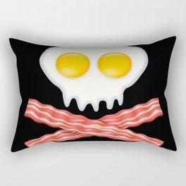 Skull With Crossed Bacon  Skull Bacon Eggs Rectangular Pillow