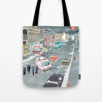 fargo Tote Bags featuring F a r g o by Axstone