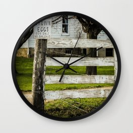 Brown Eggs for Sale Wall Clock
