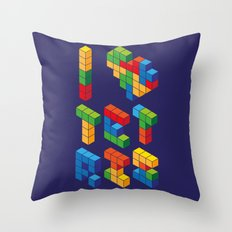 I Heart Tetris Throw Pillow