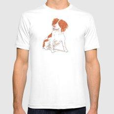 Springer Spaniel Dog Mens Fitted Tee White MEDIUM