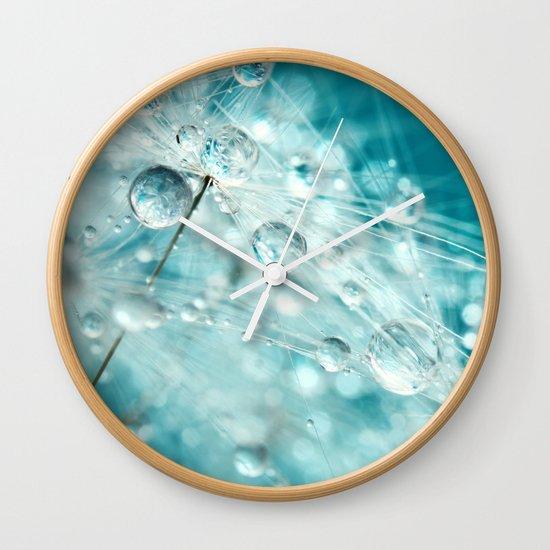 Dandy Starburst in Blue Wall Clock