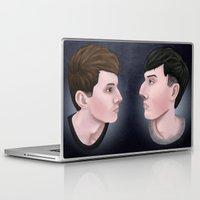 phil jones Laptop & iPad Skins featuring Dan and Phil by Greenteaelf