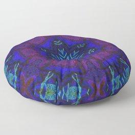Bioluminescent Tribal Lotus Floor Pillow