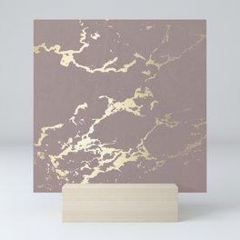 Kintsugi Ceramic Gold on Red Earth Mini Art Print