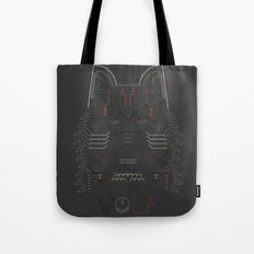 Wolf line illustration Tote Bag