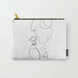 Lovers - Minimal Line Drawing Art Print 2 Carry-All Pouch