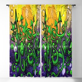 Houston_Lettering Design _Ink Illustration Concept Art:#010: Colored Version Blackout Curtain