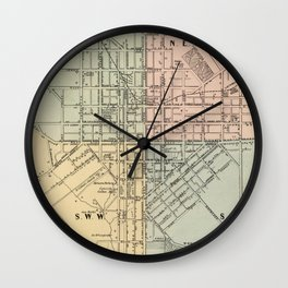 Vintage Map of Lancaster PA (1864) Wall Clock