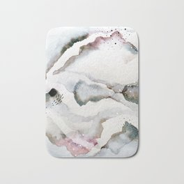 serenity: abstract painting Bath Mat