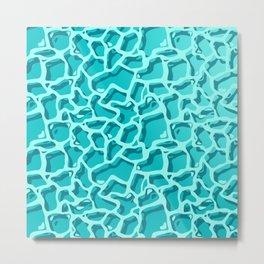 Sea Waves Pattern Metal Print