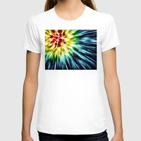 tie dye T-shirts featuring Abstract Dark Tie Dye by Phil Perkins