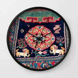 Shigatse Makden South Tibetan Buddhist Saddle Cover Print Wall Clock