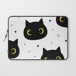 black cats pattern Laptop Sleeve