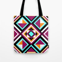 quilt Tote Bags featuring Quilt Pattern by k_c_s