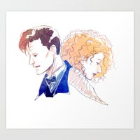river song Art Prints featuring Professor River Song by oKaShira2