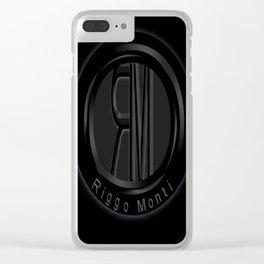 Riggo Monti Design #1 - Riggo Emblem (Blk. Bkgrnd.) Clear iPhone Case
