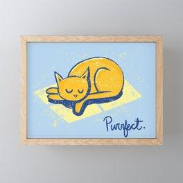 Purrfect Framed Mini Art Print