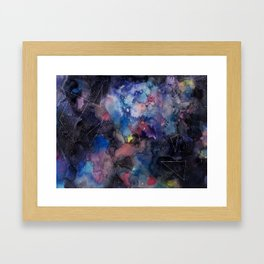 constellations sky with colors Framed Art Print