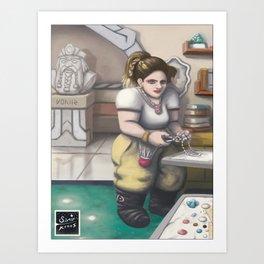 La princesa artesana Art Print