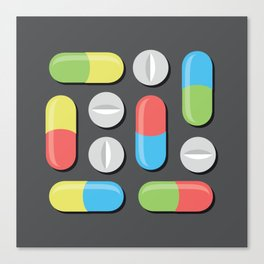 Pills and capsules Canvas Print