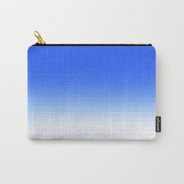Sky Blue White Ombre Carry-All Pouch