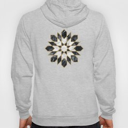 Black and white marble Moroccan mosaic Hoody