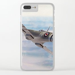 Supermarine Spitfire Clear iPhone Case