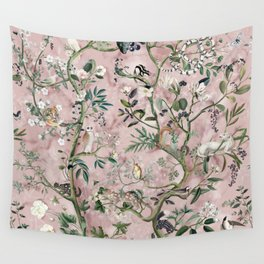 Wild Future pink Wall Tapestry