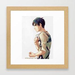 eren jaeger Framed Art Print