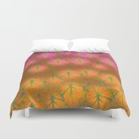 rare Duvet Covers featuring Rare Jungle, Dawn by Lindel Caine