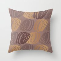 calligraphy Throw Pillows featuring Calligraphy 4 by Johs