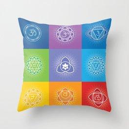 Chakras Throw Pillow