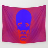 supreme Wall Tapestries featuring Supreme Being Pop by Adrian Sipe