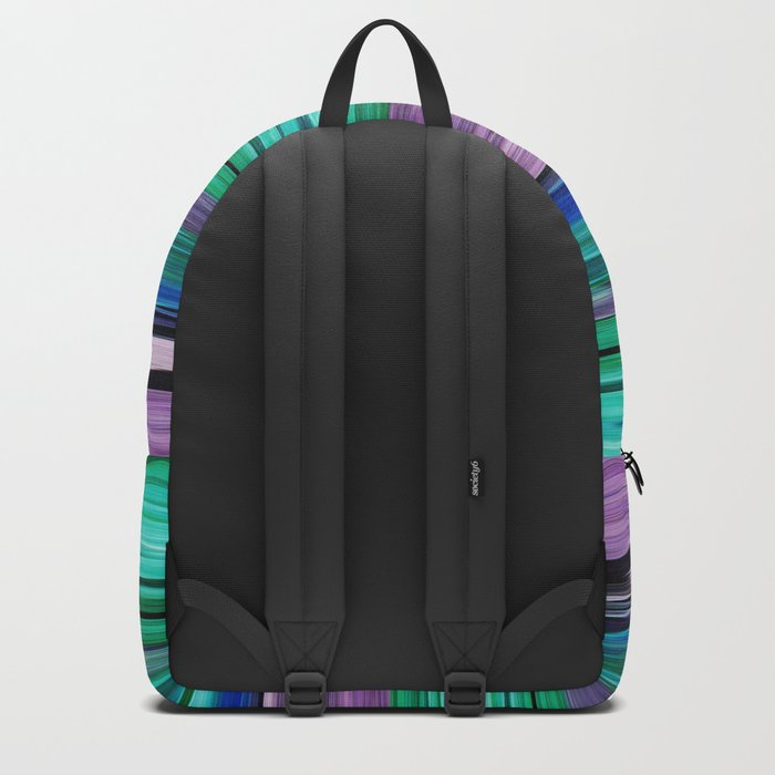 Abstract pattern . Lilac blue turquoise . Backpack