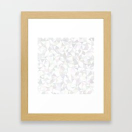 White triangle mosaic Framed Art Print