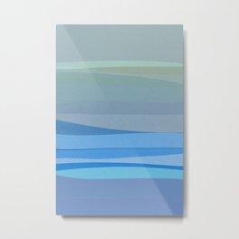 Blue Abstract I Metal Print
