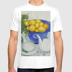 Lemon Tea White MEDIUM Mens Fitted Tee