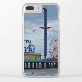Pleasure Pier - Galveston Texas Clear iPhone Case