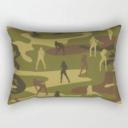 Sexy Woodland Military Camo and Sexy Girls Rectangular Pillow