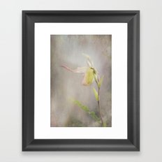 Whispering Lady Framed Art Print