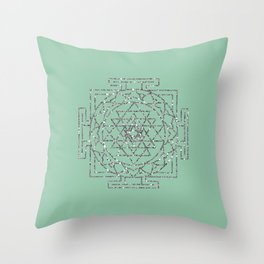 Glitter Sri Yantra Throw Pillow