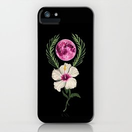 Hibiscus Moon iPhone Case