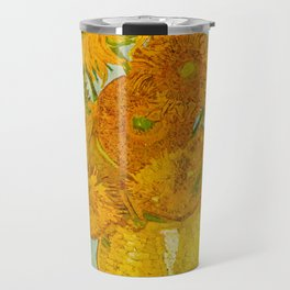 Sunflowers Oil Painting By Vincent van Gogh Travel Mug
