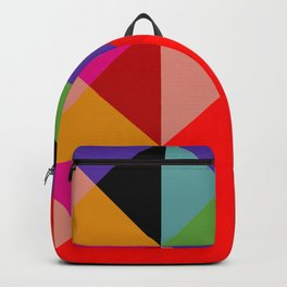 Colorful Decorative Abstract Geometric Art Pattern - Tervina Backpack