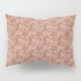 Abstract Polygon Sherwin Williams' color of the year for 2019, Cavern Clay Cubism Low Poly Triangle Pillow Sham